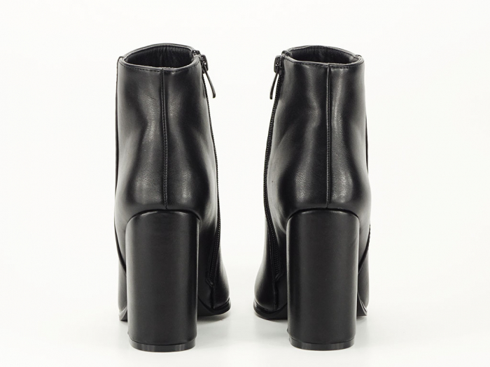 Botine negre elegante cu toc inalt Lady 6