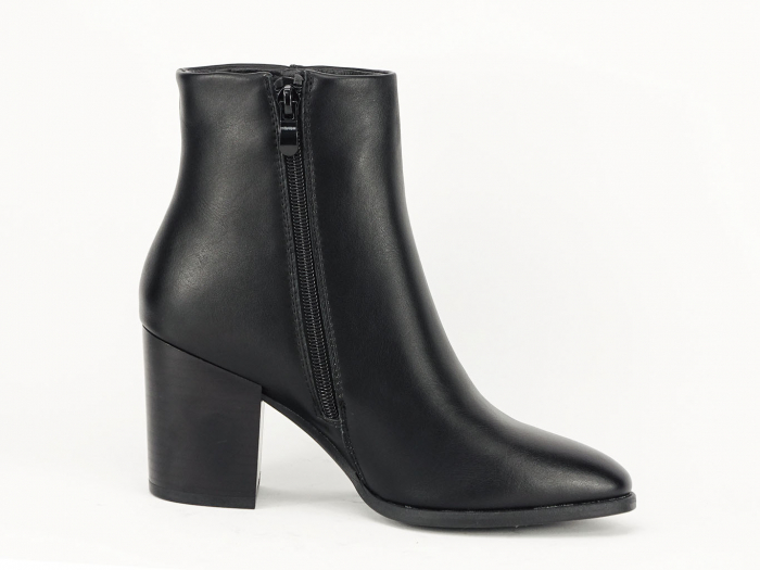 Botine negre elegante cu toc mediu Olivia 4