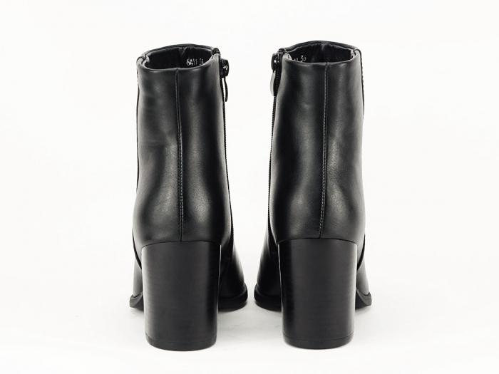 Botine negre elegante cu toc mediu Olivia 6