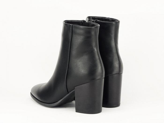 Botine negre elegante cu toc mediu Olivia 3