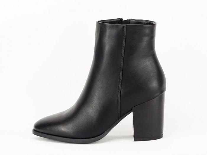 Botine negre elegante cu toc mediu Olivia 0