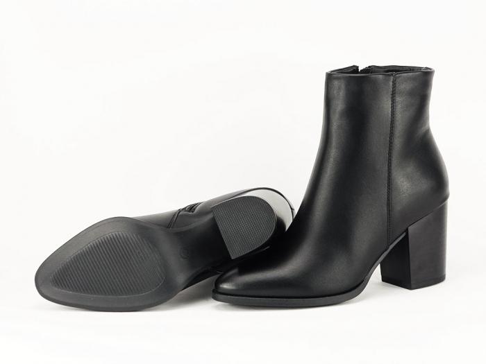 Botine negre elegante cu toc mediu Olivia 7