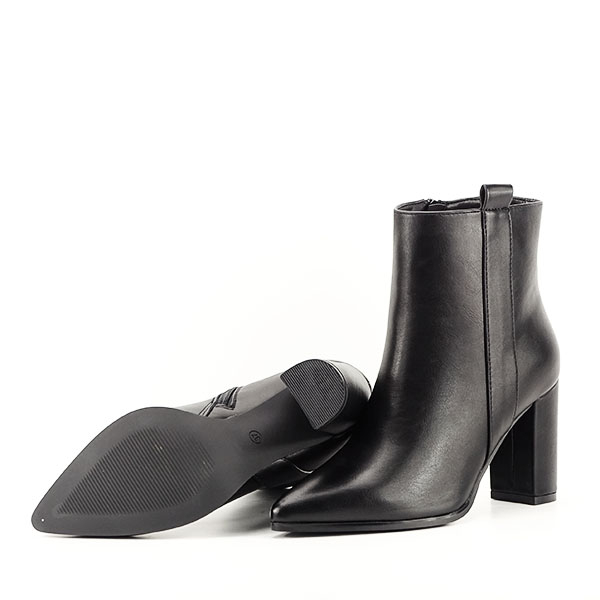 Botine negre office/casual Ginger 8