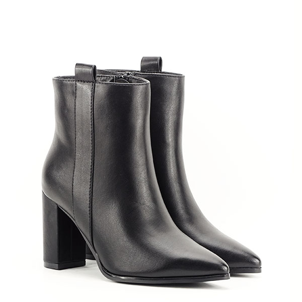 Botine negre office/casual Ginger 2