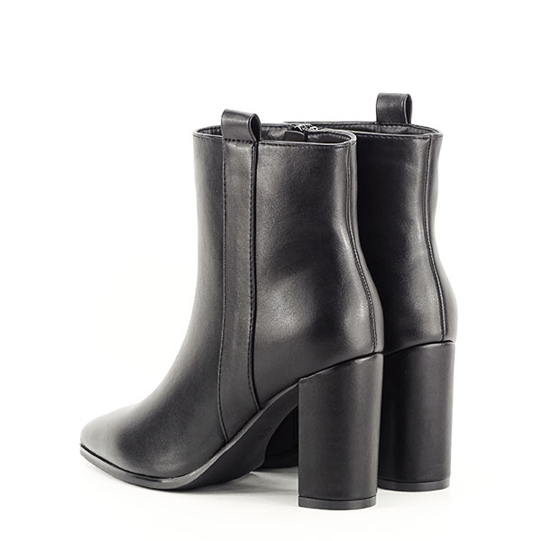 Botine negre office/casual Ginger 3