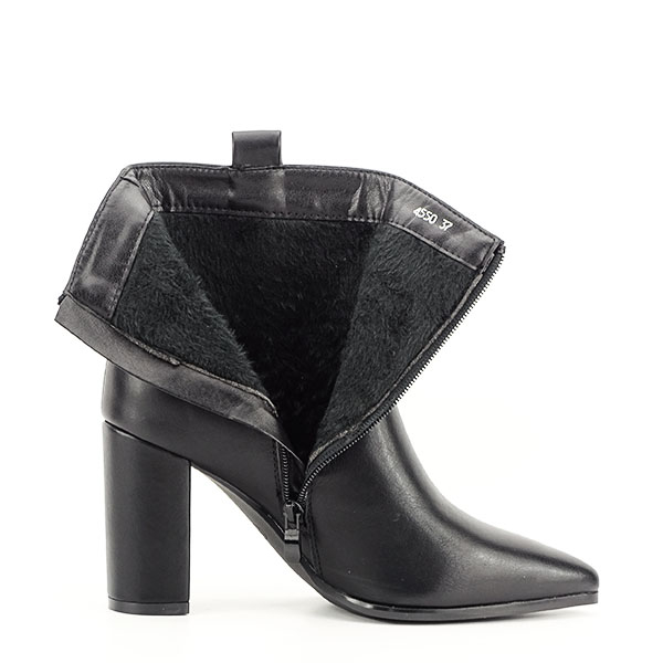 Botine negre office/casual Ginger 7