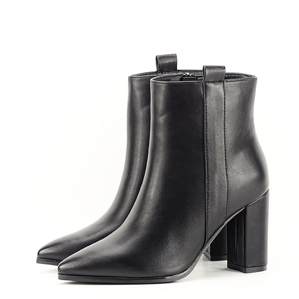 Botine negre office/casual Ginger 1