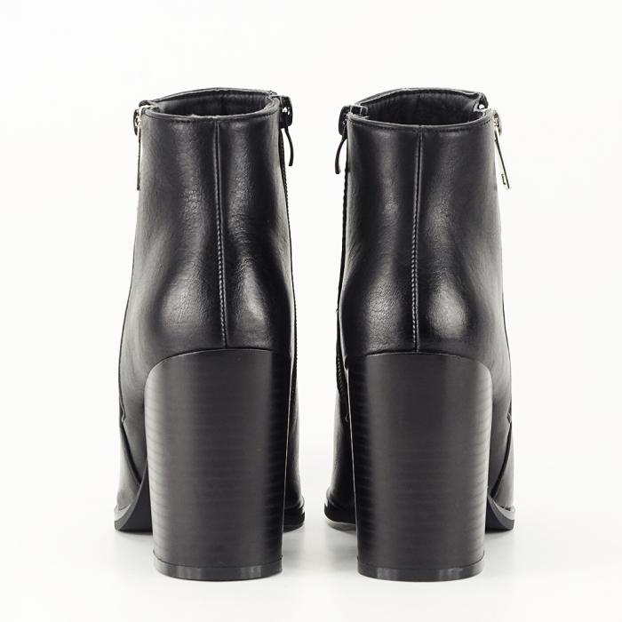 Botine negre cu toc gros Silvia [6]