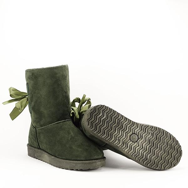 Cizme kaki cu fundita in spate Allegria [6]