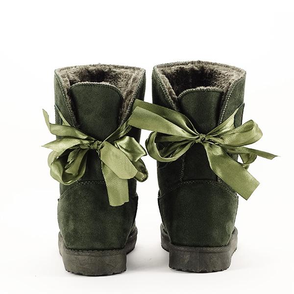 Cizme kaki cu fundita in spate Allegria [5]