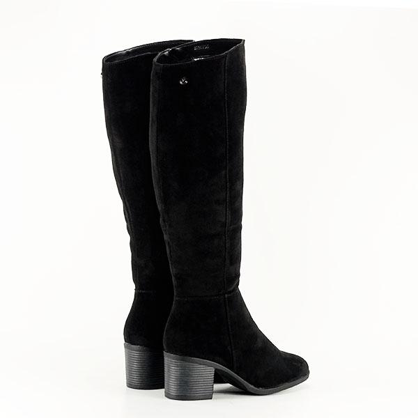 Cizme negre cu toc Roxana 4