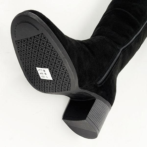 Cizme negre cu toc Roxana 7