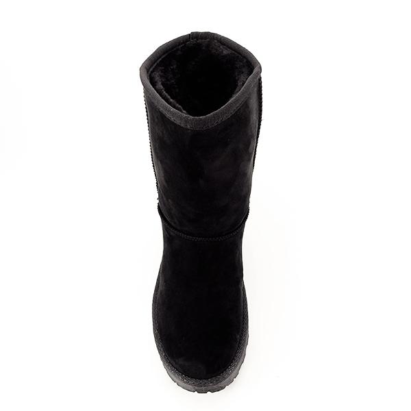 Cizme negre din velur ecologic Blanca 6