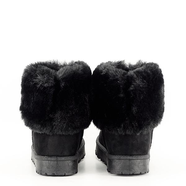 Cizme negre imblanite Brinda 5