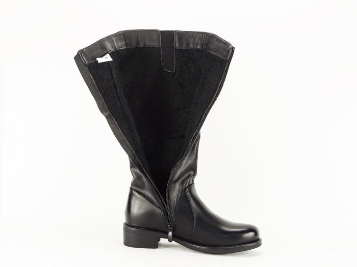 Cizme negre lungi dama usor imblaniti Tamaris 4