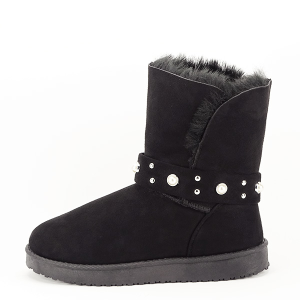 Cizme negre tip ugg Mia 0