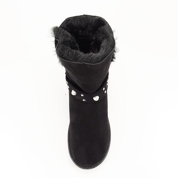 Cizme negre tip ugg Mia 2