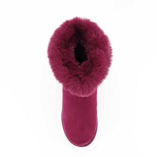Cizme rosu inchis cu cristale Oana 2