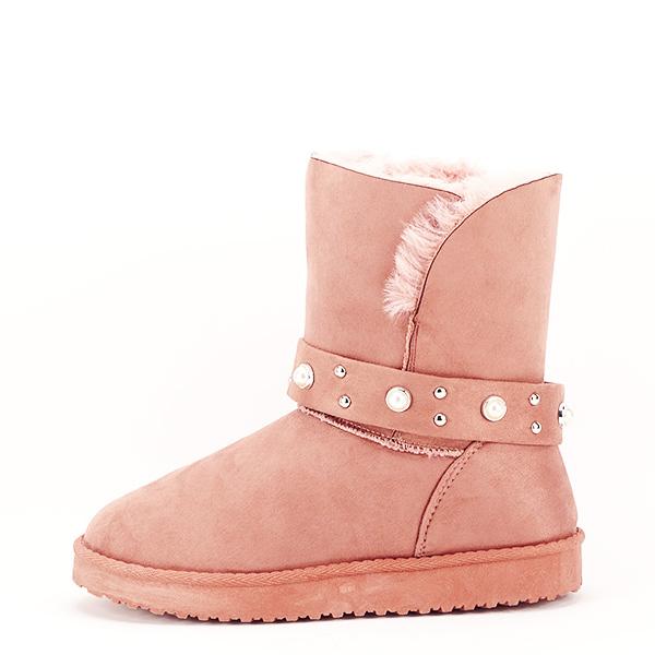 Cizme roz tip ugg Mia [0]