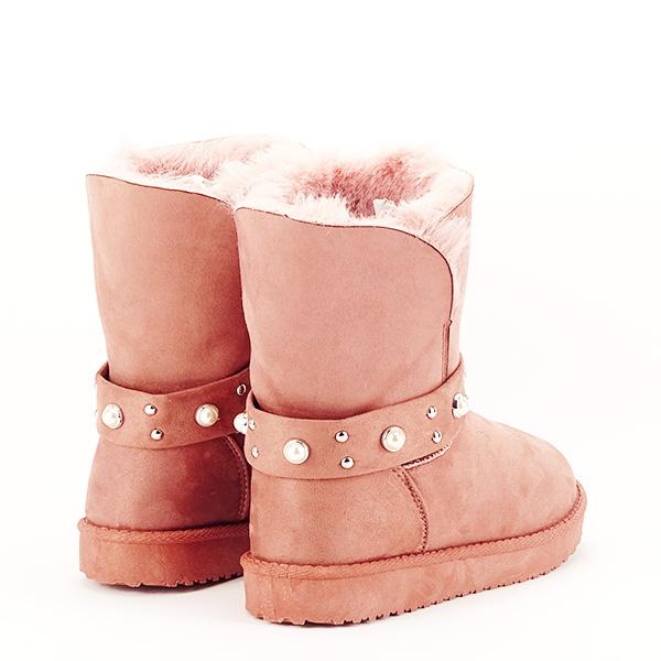 Cizme roz tip ugg Mia [5]