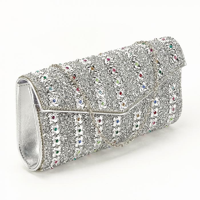 Plic argintiu decorat cu pietre Star 0