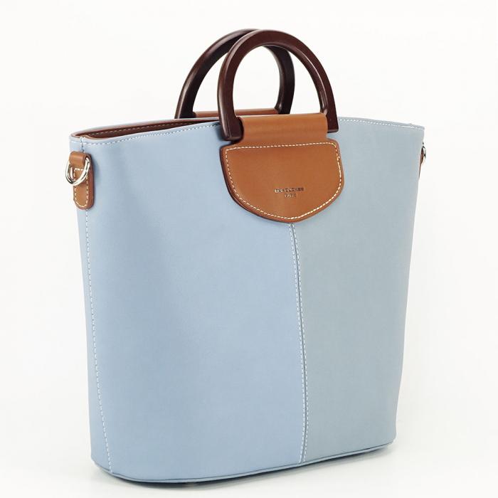 Geanta dama albastra in doua nuante Vanila 1