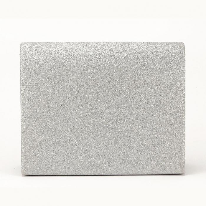 Geanta club argintiu cu scipici Emma 2