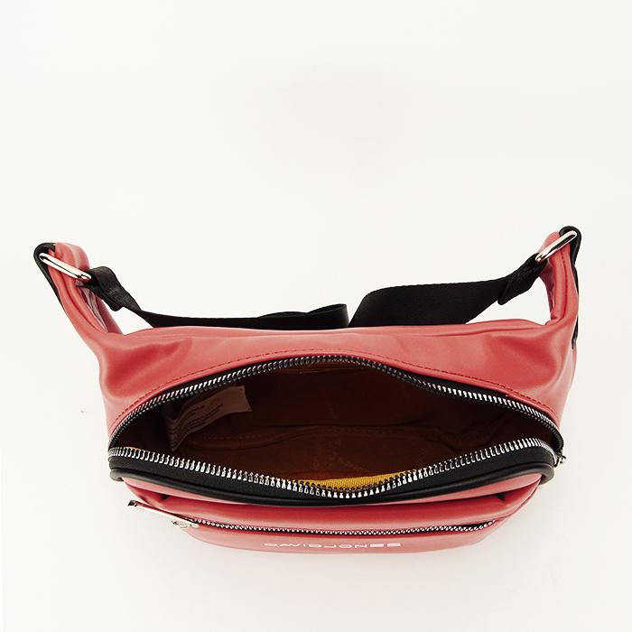 Borseta, geanta de brau caramizie Crina 4