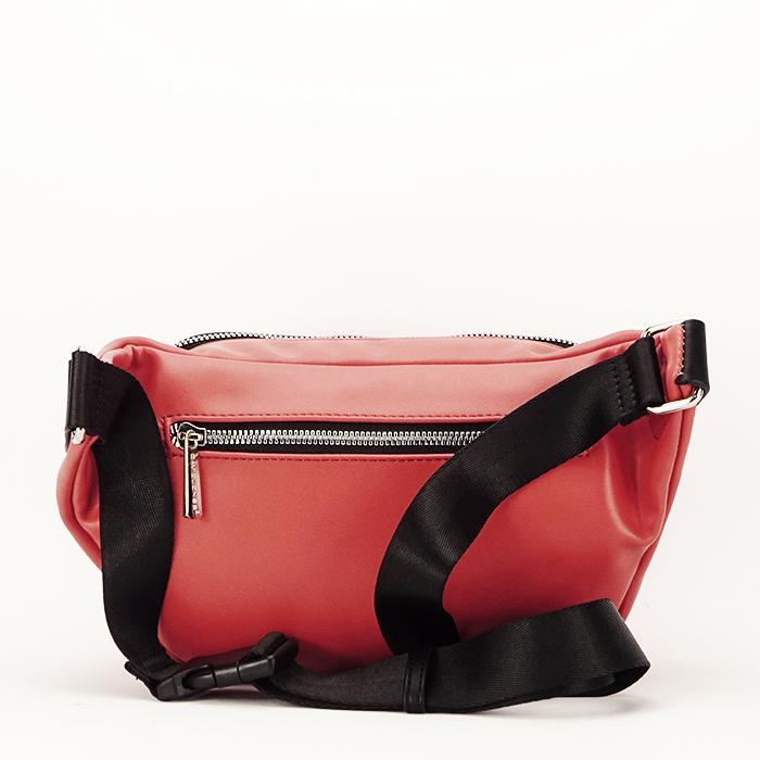 Borseta, geanta de brau caramizie Crina 3