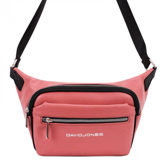 Borseta, geanta de brau caramizie Crina 2
