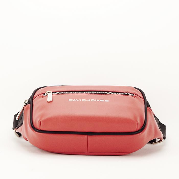 Borseta, geanta de brau caramizie Crina 5