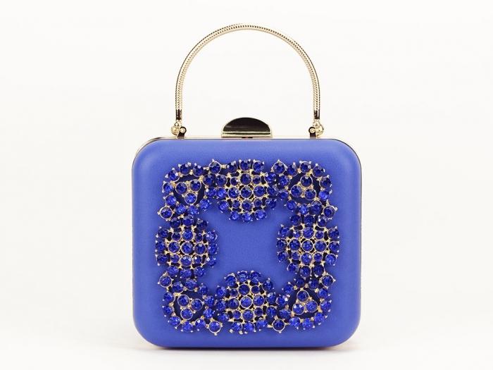 Geant clutch albastru elegant Ingrid 0