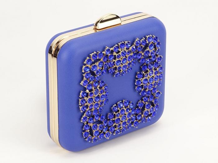 Geant clutch albastru elegant Ingrid 5
