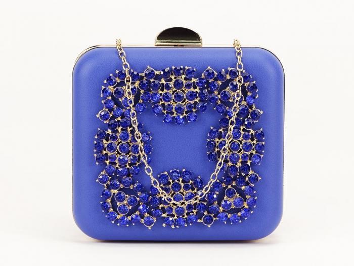 Geant clutch albastru elegant Ingrid 2