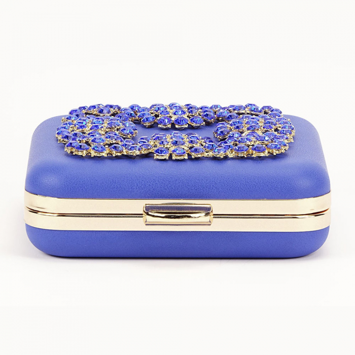 Geant clutch albastru elegant Ingrid 4