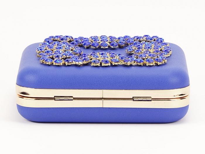 Geant clutch albastru elegant Ingrid 7