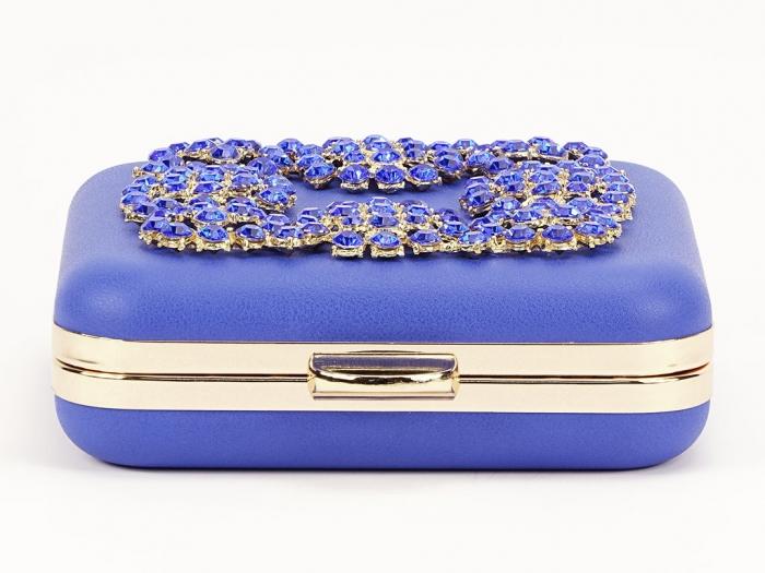 Geant clutch albastru elegant Ingrid 6