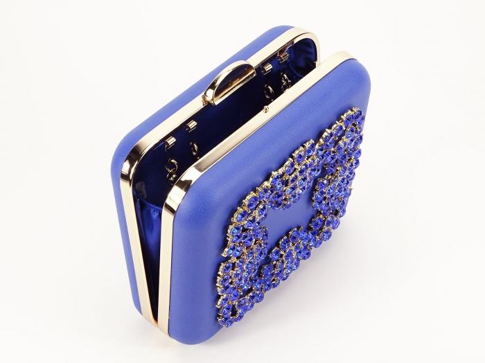 Geant clutch albastru elegant Ingrid 1