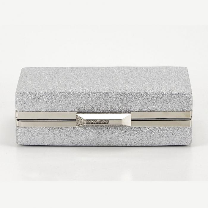 Geanta clutch argintie Eliza 3