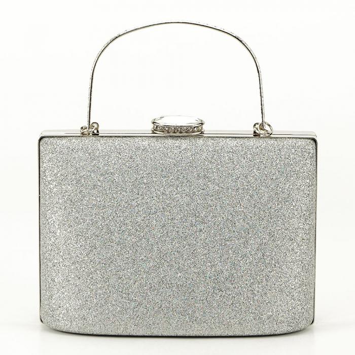 Geanta clutch argintie Lavinia 0