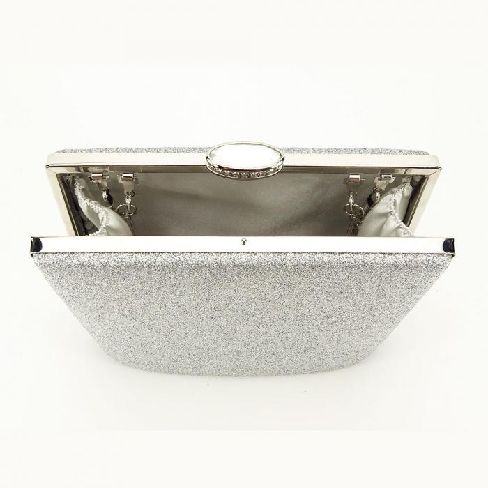 Geanta clutch argintie Lavinia 5