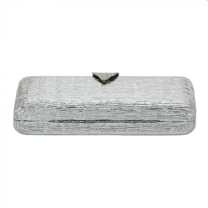 Geanta clutch argintie Nicole 5