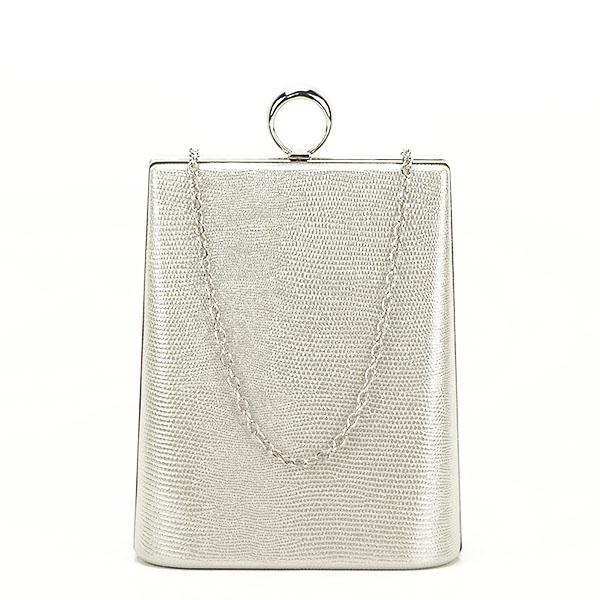 Geanta clutch argintiu cu imprimeu Noemi 3