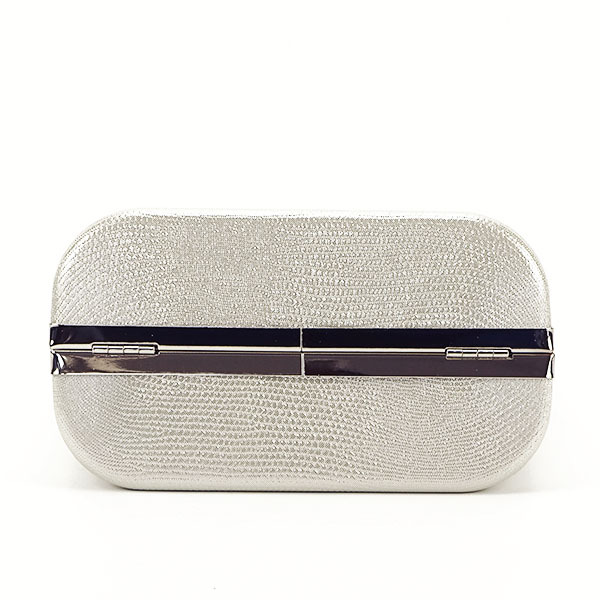 Geanta clutch argintiu cu imprimeu Noemi 6