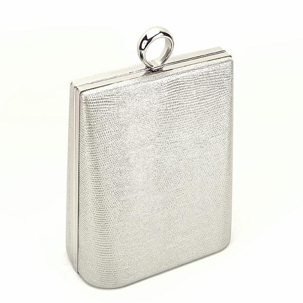 Geanta clutch argintiu cu imprimeu Noemi 1