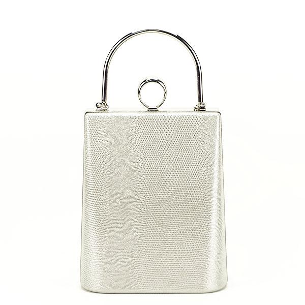 Geanta clutch argintiu cu imprimeu Noemi 0