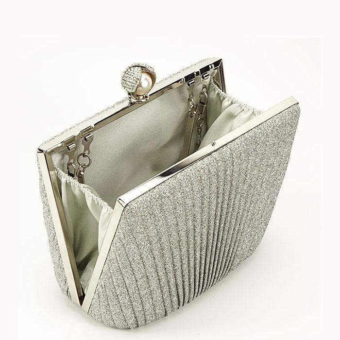 Clutch argintiu Ecaterina 3
