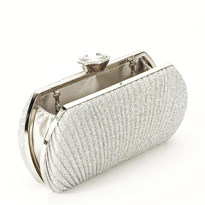 Geanta clutch argintiu Elisabeta 3