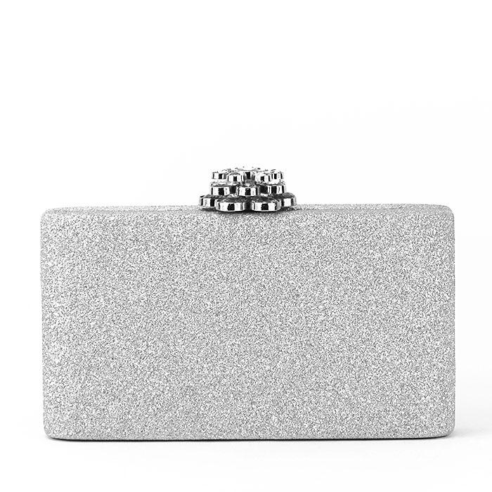 Geanta clutch argintiu Glory [1]