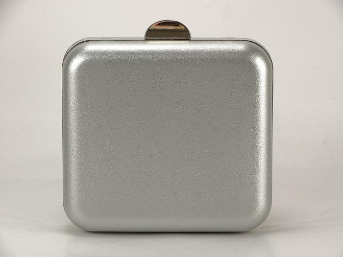 Geanta Clutch argintiu 3